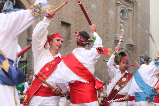 Fiestas de San Lorenzo 2012 Danzantes /Foto Rafael Gobantes / 10-8-12