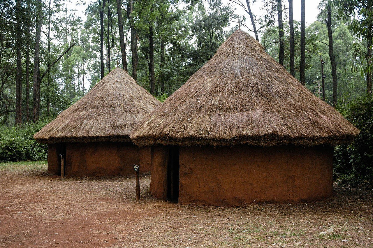 Husband`s hut in Kamba village at Bomas of Kenya near Nairobi