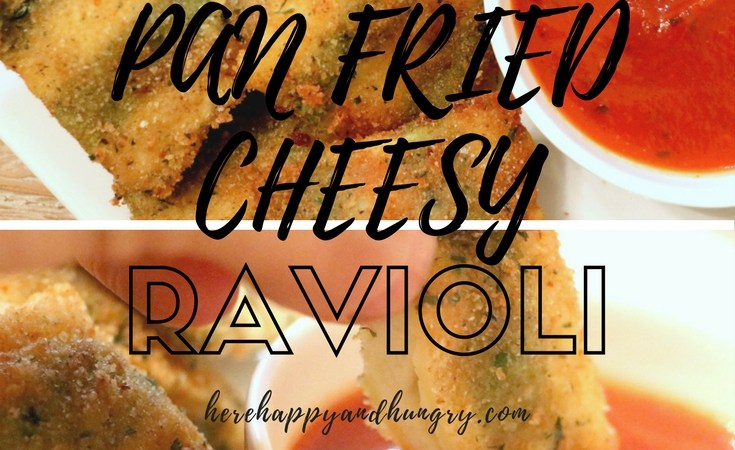 Pan Fried Cheesy Ravioli