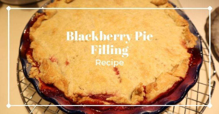Finished blackberry pie
