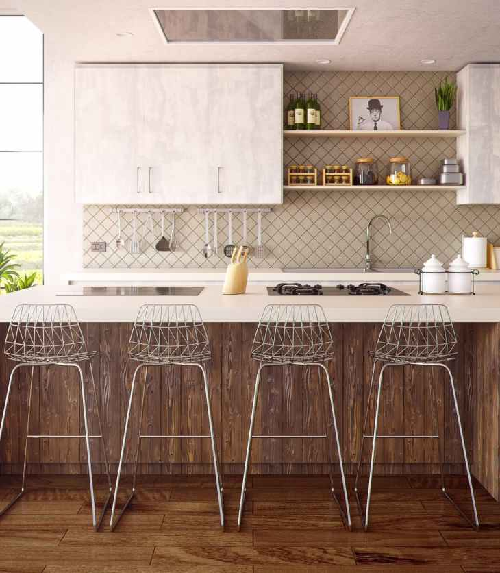 stools around kitchen counter
