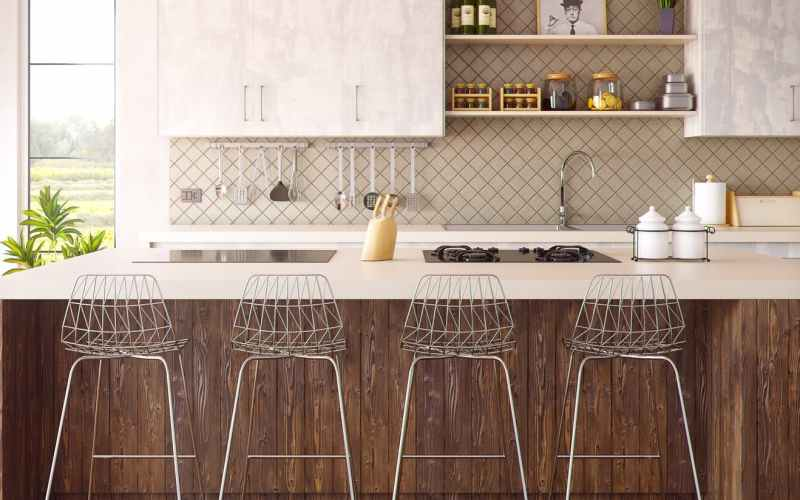 stools around kitchen counter