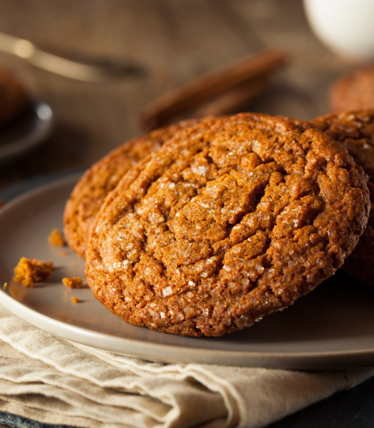 plate of ginger snap cookies