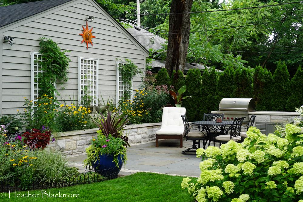 Urban patio and garden