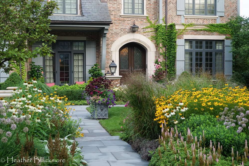 Bluestone walkway through front yard garden