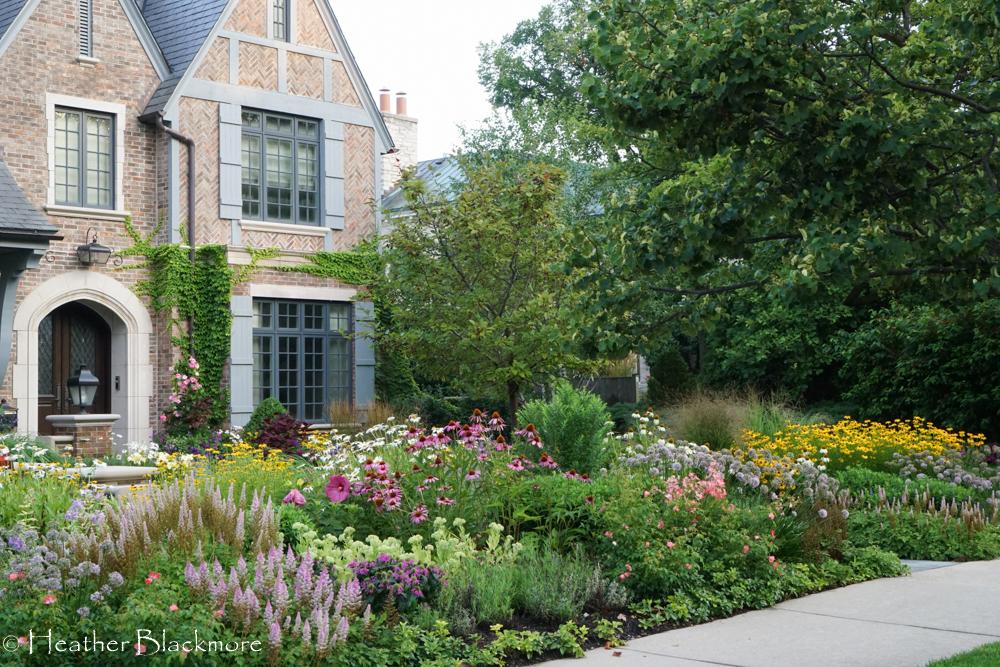 Street view front yard garden