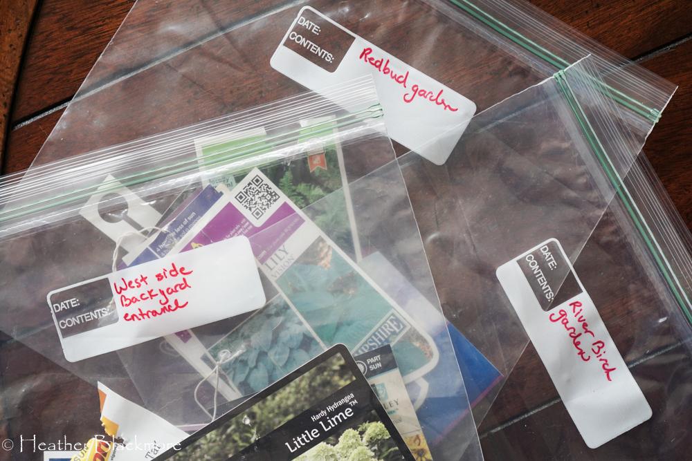 Plant tag bags