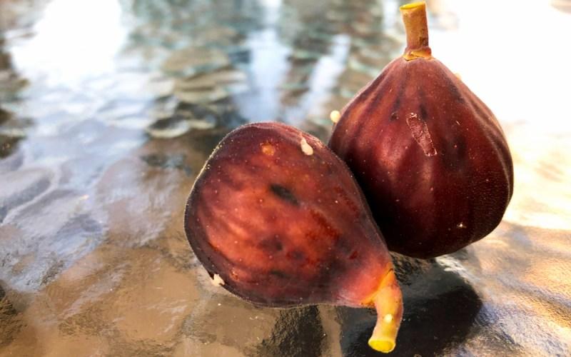 Two ripe figs