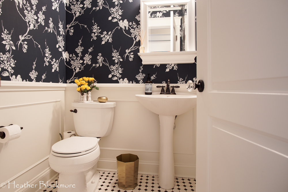 Finished powder room