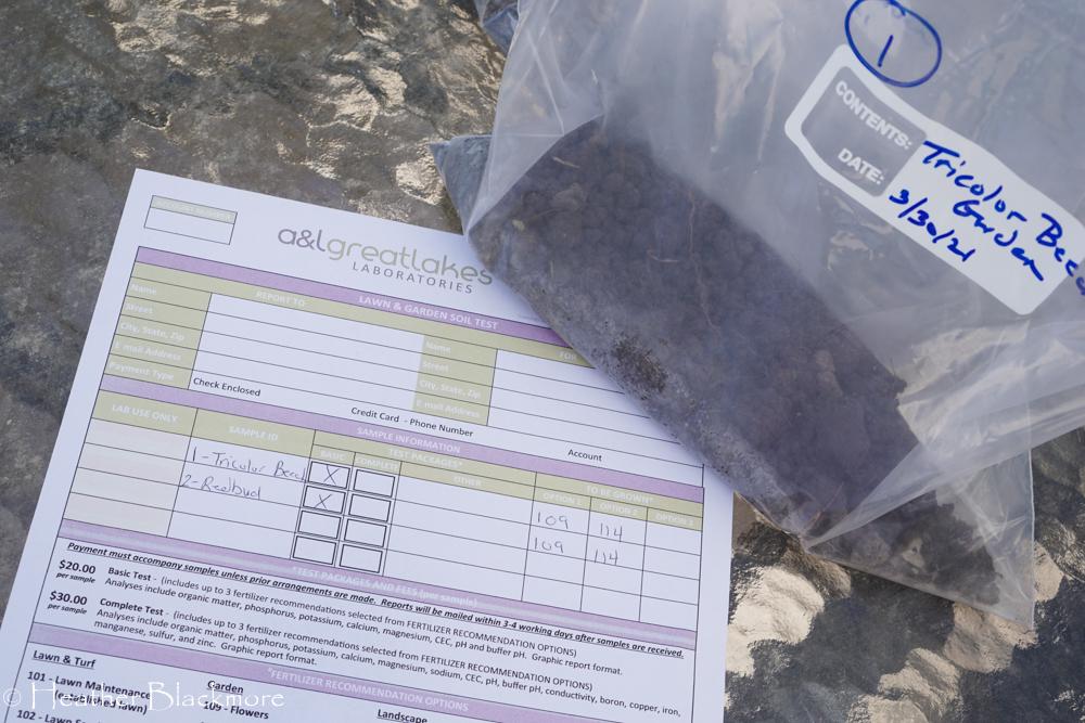 Soil test form
