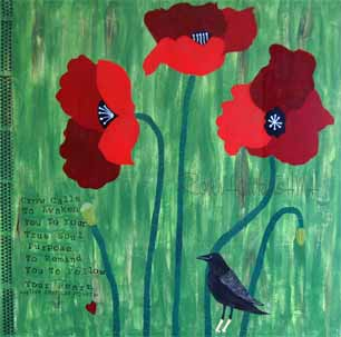 Red Poppies with watermark