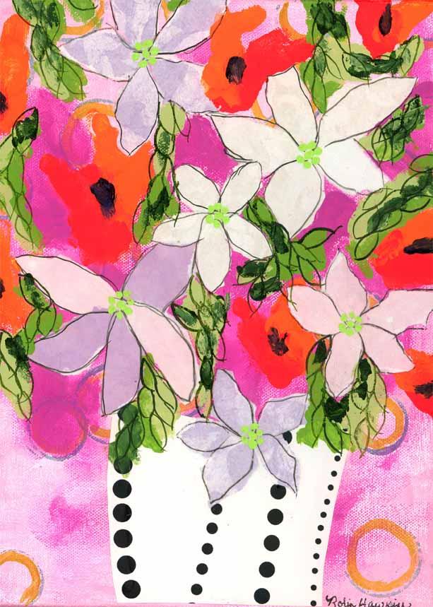 Lavender and White Poinsettias