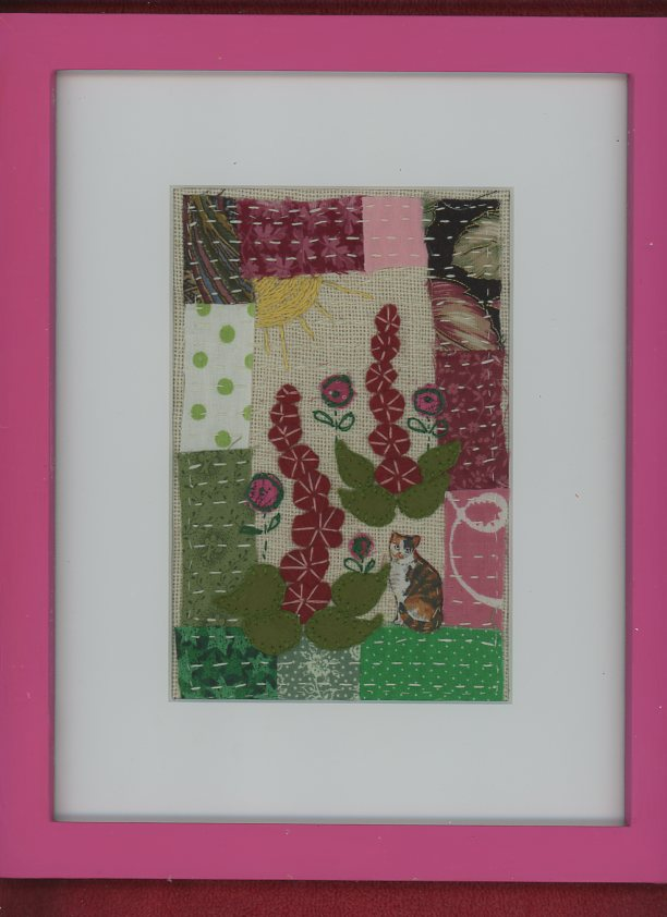 Hollyhocks Stitchery