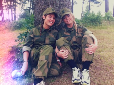 Norwegian Army, girl-camp. A recruiting-happening for women