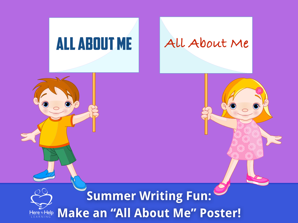 Summer Writing Fun All About Me Poster Week 10 10 Here