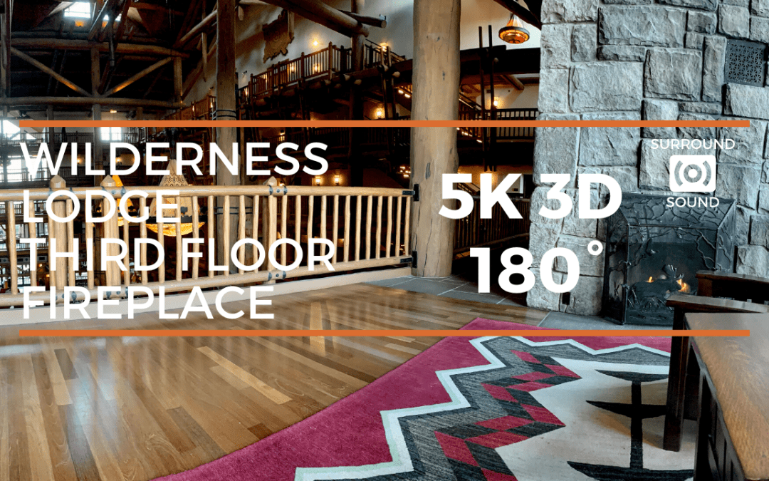 Wilderness Lodge Third Floor Floor Fireplace Overlook (5K 3D 180°)