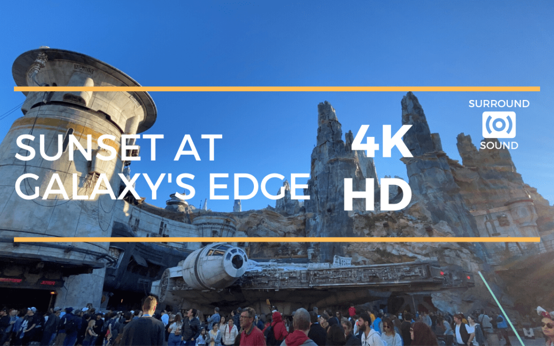 Sunset at Galaxy's Edge (4K HD) with 3D Sound