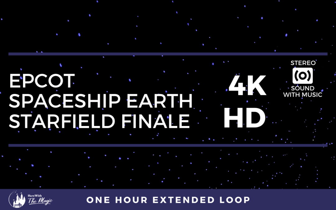 Spaceship Earth Starfield Finale (4K HD) One Hour Loop