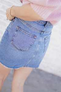 Top Shop Denim Skirt - Valentine's Day Style   Her Fashioned Life