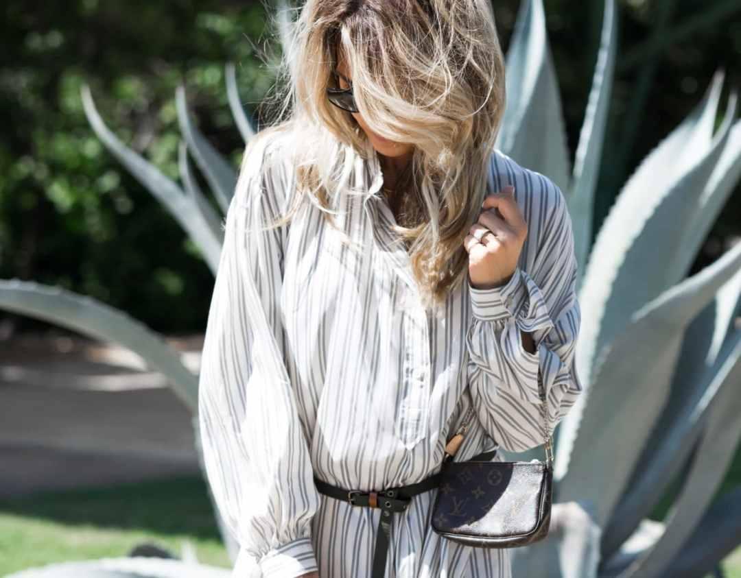 How To wear a Tunic Dress - www.HerFashionedLife.com