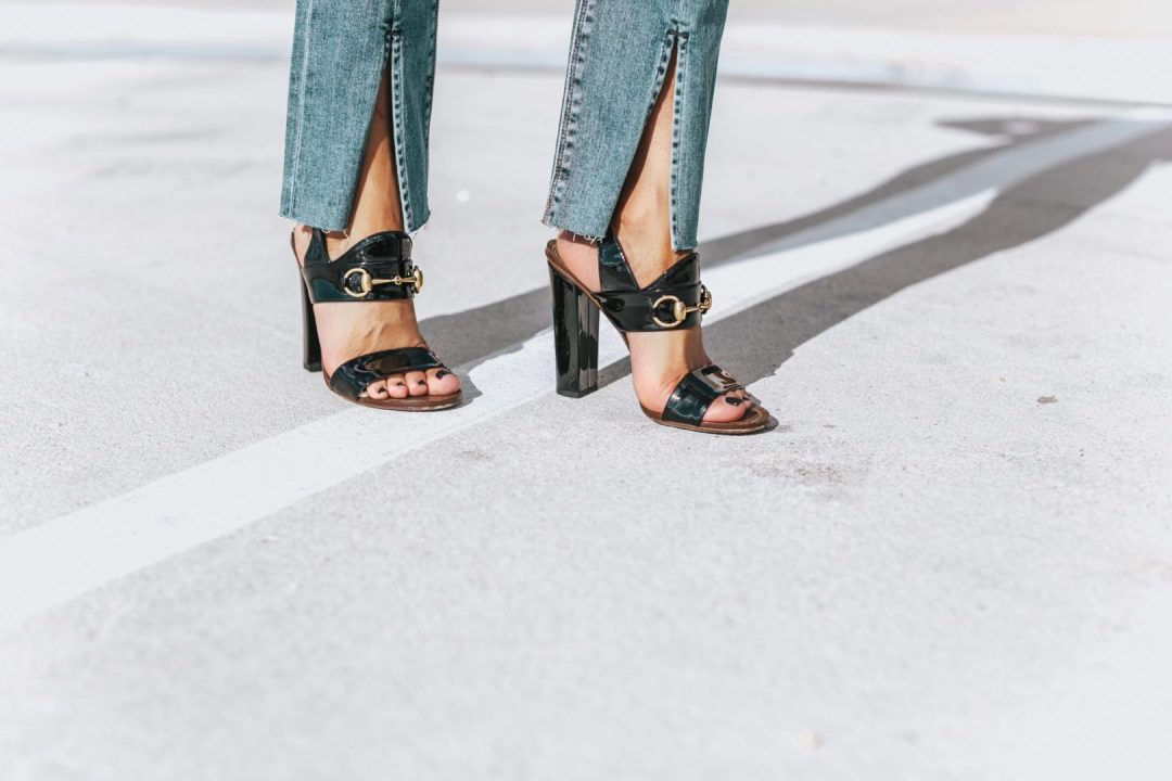 Split Hem Jeans- Her Fashioned Life