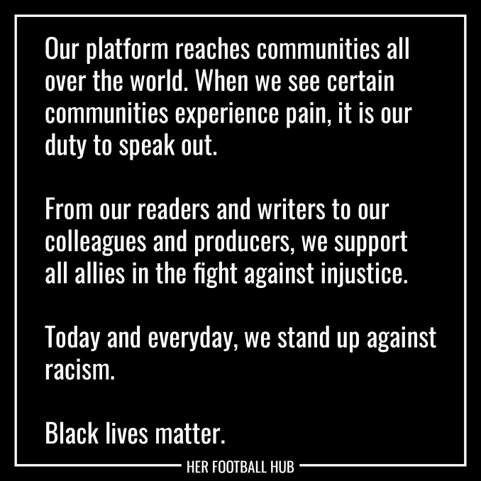 Our platform reaches communities all over the world. When we see certain communities experience pain, it is our duty to speak out.  From our readers and writers to our colleagues and producers, we support all allies in the fight against injustice.  Today and everyday, we stand up against racism.  Black lives matter.