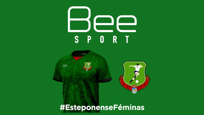 Bee Sport's logo with ADC Esteponense's newly sponsored kit.