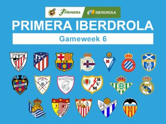 Primera Iberdrola Gameweek 6 graphic featuring all 18 club crests.