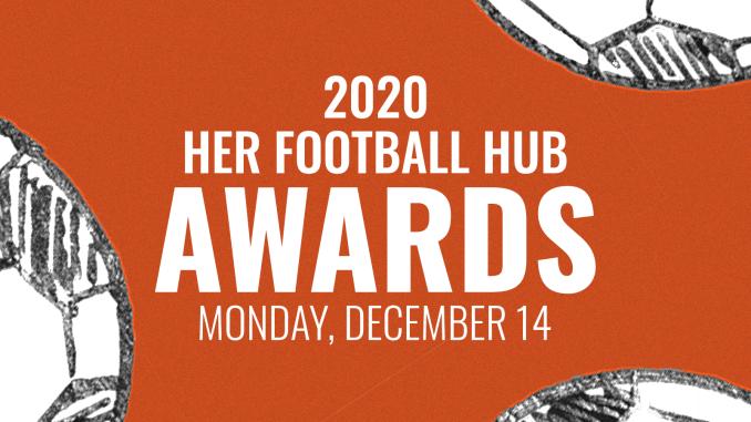 2020 Her Football Hub Awards title card