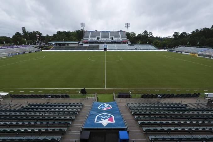 Sahlen's Stadium at WakeMed Soccer Park in Cary, North Carolina.