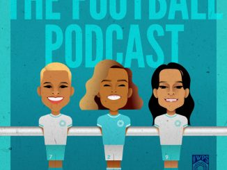 UEFA's The Football Podcast graphic, part of the We Play Strong Together campaign.