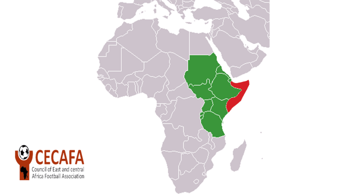 CECAFA member map