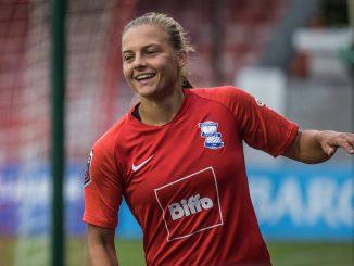 Sarah Mayling celebrates her goal.