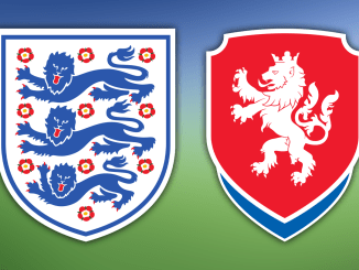 Young Lionesses and Czech Republic national team crests.