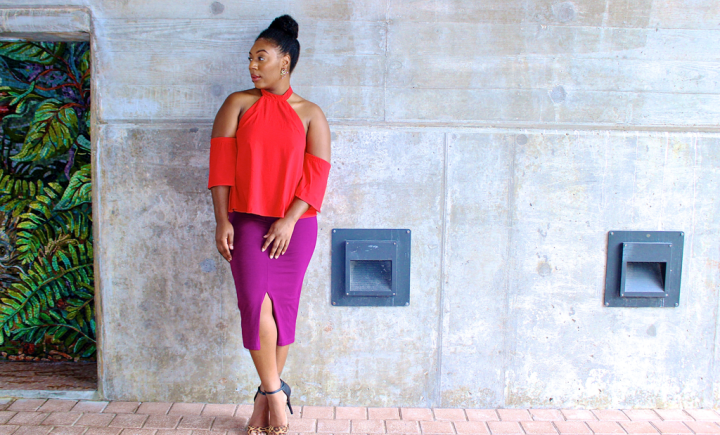 How to Wear Red & Purple
