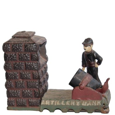 Antique Toys Artillery Bank
