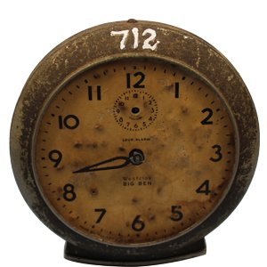 Antique Analog Table Clock Home Decor Showpiece Antique Alarm One Day Clock