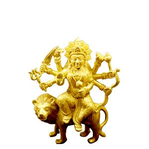 Maa Durga Brass Idol Showpiece for Worship Pooja Room