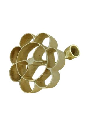 Brass Made Achappam Maker Non Stick Hand Made Traditional Achappam Mold with Wooden Handle