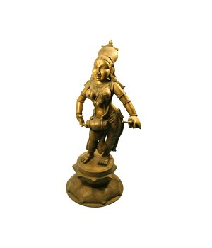 Buy Antique Brass Figurine Lady playing Musical Instrument