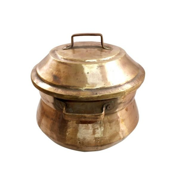 Copper Idli Maker Handmade Pasta Steamer Lead Coated Inside 2 Plates