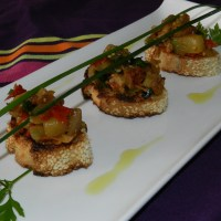 Toasts Ratatouille