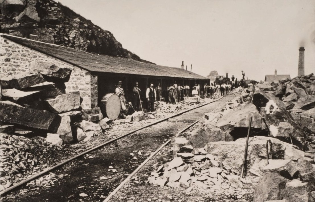 Stone Masons' huts at Mountsorrel Quarry circa 1890s