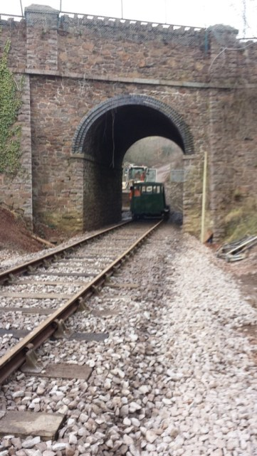 Mountsorrel station track completed to Bond Lane bridge
