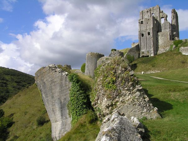 The ruins of Corfe Castle in Dorset. Copyright Paul Adams