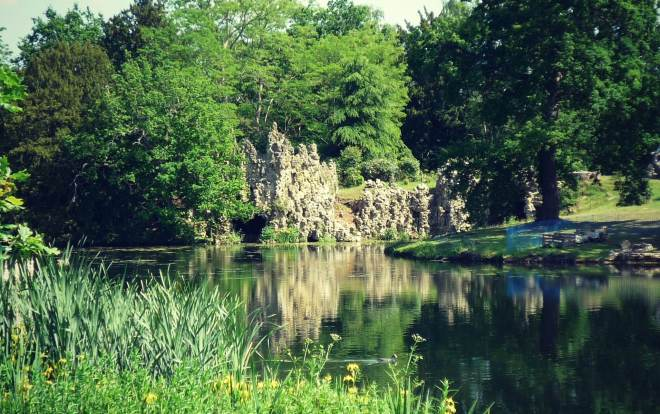 The C18 grotto at Painshill Park, Surrey, laid out between 1738 and 1773 by the Hon Charles Hamilton. 'Registered Grade I' to Painshill.