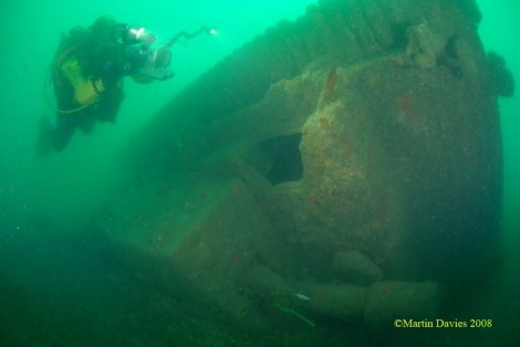 One of the tanks from the LCT -2428 wrecks (photo credit to Ali Mayor and Martin Davies)