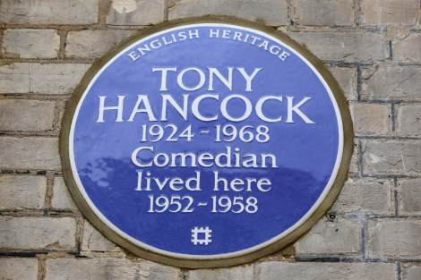 Tony Hancock's Blue Plaque at 20 Queen's Gate Place
