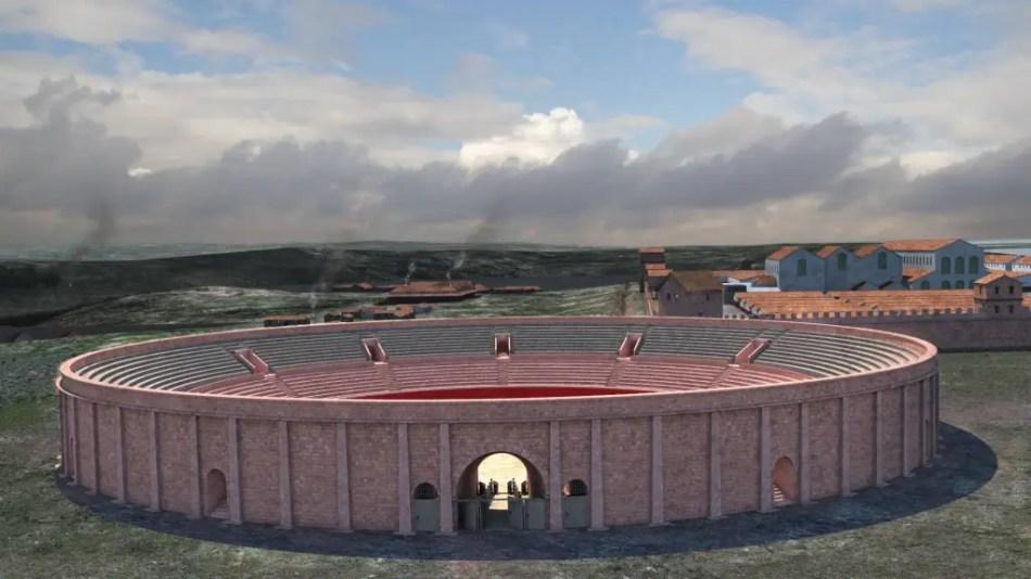 Chester amphitheatre reconstruction