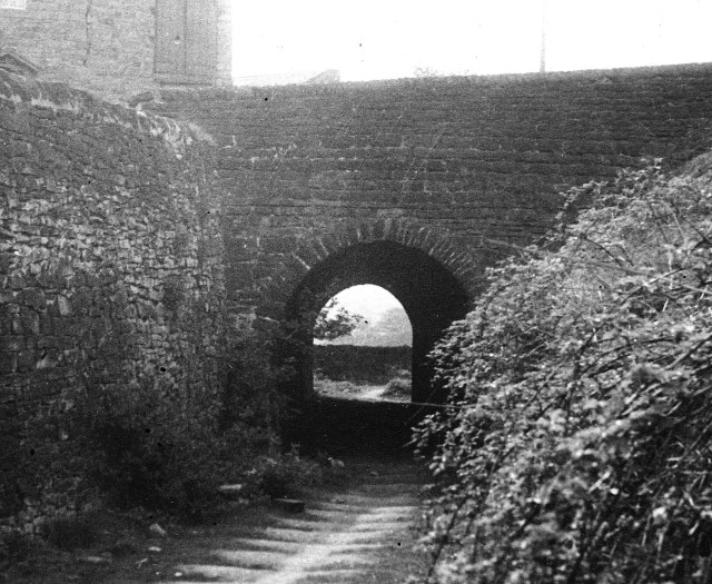 The opening to Fritchley Tunnel in 1946. Both ends were buried and only recently have archaeologists exposed and recorded its interior © Railway Canal and Historical Society